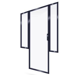 FRAMED SHOWER DOOR 2PR
