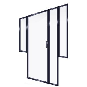 FRAMED INLINE DOOR 2PR