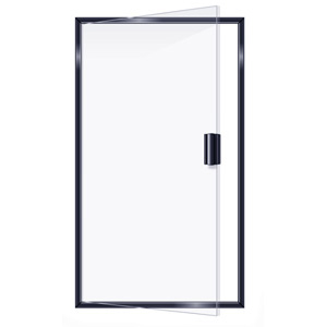 SEMIFRAMELESS SINGLE DOOR