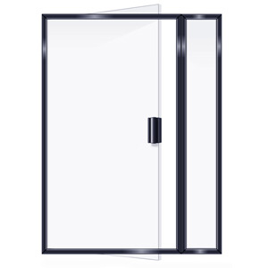 SEMIFRAMELESS INLINE DOOR
